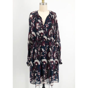 LUCKY BRAND Floral Print Peasant Dress